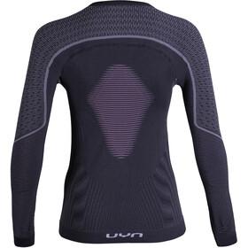 UYN Visyon UW LS Shirt Women Charcoal/Raspberry/White